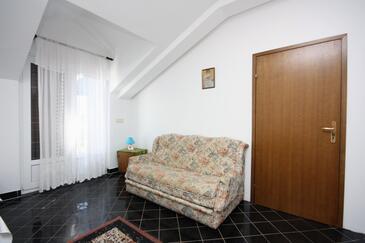 Jezera, Pokój dzienny w zakwaterowaniu typu apartment, zwierzęta domowe są dozwolone.