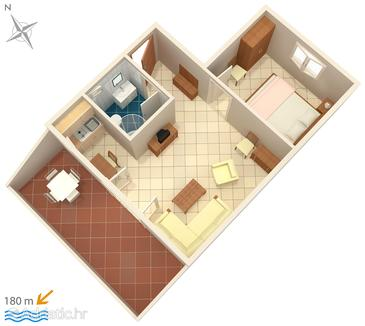 Murter, План в размещении типа apartment, WiFi.