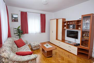 Murter, Гостиная в размещении типа apartment, доступный кондиционер, Домашние животные допускаются и WiFi.