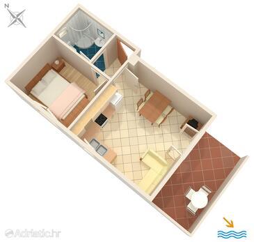 Krilo Jesenice, Plan in the apartment, WIFI.
