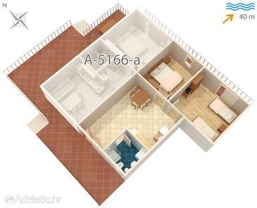 Rogač, План в размещении типа apartment, WiFi.
