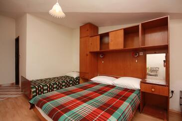 Podaca, Spálňa v ubytovacej jednotke room, dopusteni kucni ljubimci.