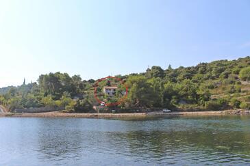 Piškera, Šolta, Obiekt 5175 - Apartamenty przy morzu ze żwirową plażą.