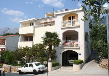 Podgora, Makarska, Obiekt 518 - Apartamenty przy morzu ze żwirową plażą.