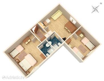 Poljanak, Půdorys v ubytování typu apartment, WiFi.
