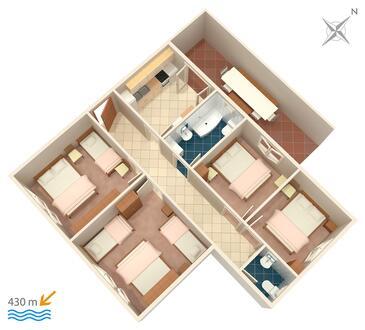 Gradac, Plan in the apartment, WIFI.