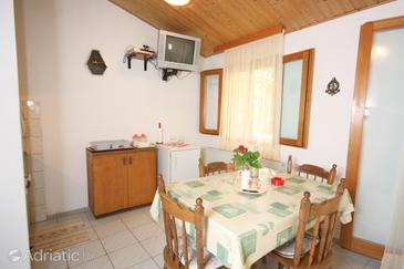 Nečujam, Dining room in the apartment, dostupna klima, dopusteni kucni ljubimci i WIFI.
