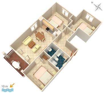 Pokrivenik, Plan in the apartment, (pet friendly).