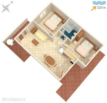 Stomorska, Plan in the apartment, (pet friendly).