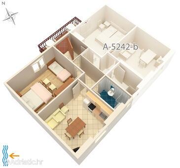 Milna, План в размещении типа apartment, WiFi.