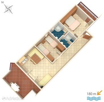 Okrug Donji, Plan in the apartment, WIFI.