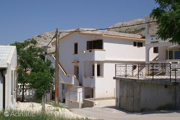 Metajna, Pag, Property 525 - Apartments with sandy beach.