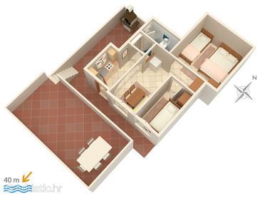 Rastići, Plan in the apartment, WIFI.