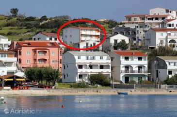 Metajna, Pag, Property 527 - Apartments with sandy beach.