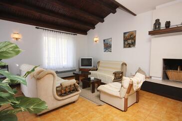 Vantačići, Pokój dzienny w zakwaterowaniu typu apartment, dostupna klima, dopusteni kucni ljubimci i WIFI.