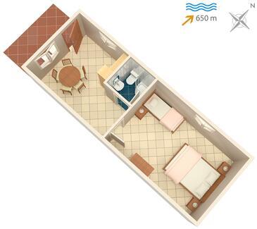 Vrbnik, Plan kwatery w zakwaterowaniu typu apartment, WIFI.