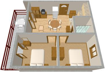 Pag, Plan in the apartment.