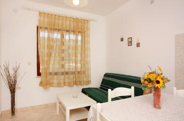 Vrbnik, Living room in the apartment, (pet friendly) and WiFi.