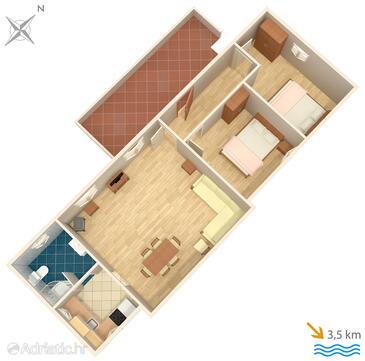 Županje, Plan in the apartment.