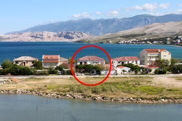 Pag, Pag, Obiekt 531 - Kwatery przy morzu ze żwirową plażą.