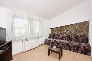 Njivice, Pokój dzienny w zakwaterowaniu typu apartment, WIFI.