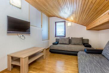 Vantačići, Obývací pokoj v ubytování typu apartment, WiFi.