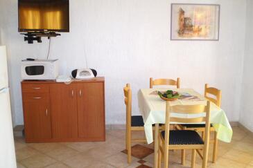 Pinezići, Esszimmer in folgender Unterkunftsart apartment, Klimaanlage vorhanden und WiFi.