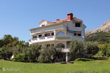 Baška, Krk, Objekt 5331 - Apartmani sa šljunčanom plažom.