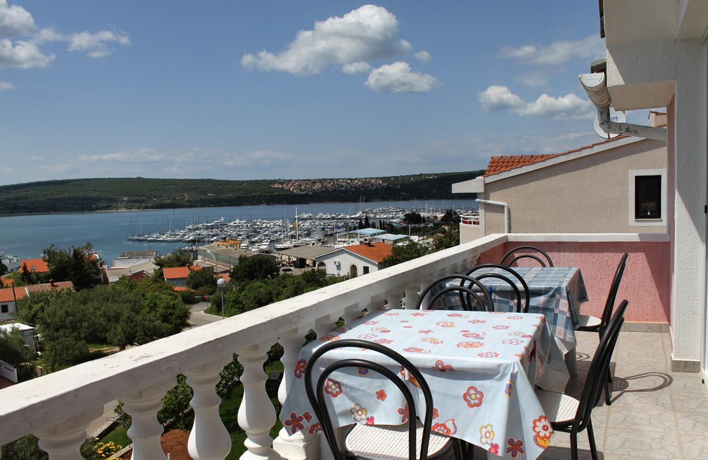 Ferienwohnung im Ort Punat (Krk), Kapazität 4 Ferienwohnung in Kroatien