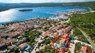 Punat, Krk, Hébergement 5345 - Appartement en Croatie.