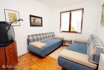 Vantačići, Living room in the apartment.
