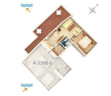 Njivice, Plan dans l'hébergement en type apartment, animaux acceptés et WiFi.