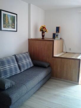 Krk, Obývacia izba v ubytovacej jednotke apartment, WIFI.
