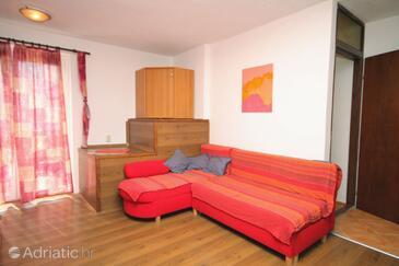 Krk, Obývací pokoj v ubytování typu apartment, WiFi.