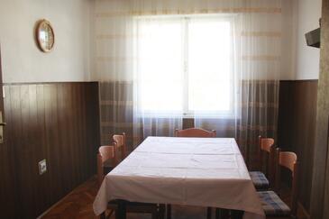 Baška, Dining room in the apartment, dopusteni kucni ljubimci i WIFI.