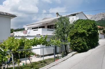Baška, Krk, Property 5411 - Apartments with pebble beach.