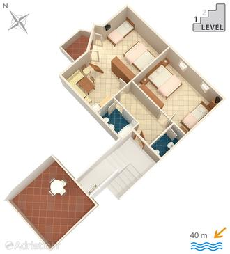 Punat, Plan in the apartment.