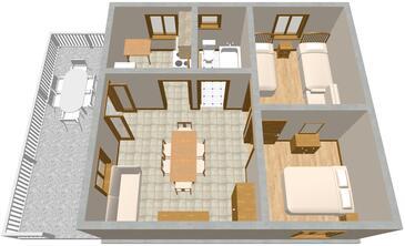 Basina, Plan kwatery w zakwaterowaniu typu apartment, dopusteni kucni ljubimci.