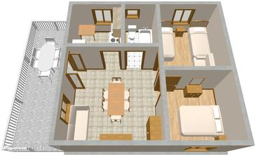 Basina, Plan in the apartment, (pet friendly) and WiFi.