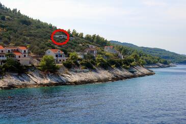 Prigradica, Korčula, Objekt 543 - Ubytování v blízkosti moře.