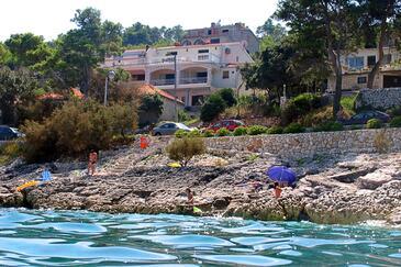 Prigradica, Korčula, Obiekt 544 - Apartamenty przy morzu ze żwirową plażą.