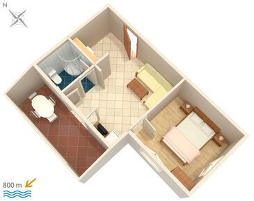 Njivice, Plan in the apartment, WIFI.