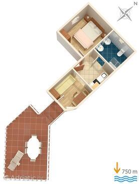 Čižići, Schema nell'alloggi del tipo apartment, animali domestici ammessi e WiFi.