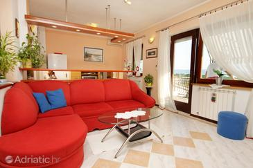 Selce, Obývací pokoj v ubytování typu apartment, WiFi.