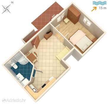 Korčula, Plan in the apartment, WiFi.