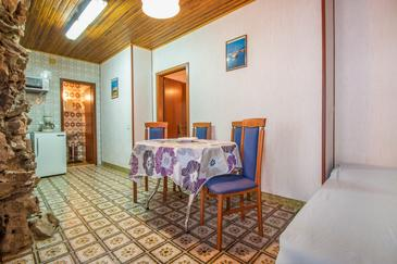 Crikvenica, Dining room in the apartment, (pet friendly) and WiFi.