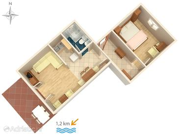 Crikvenica, План в размещении типа apartment, WiFi.