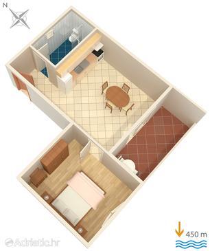 Hvar, Plan in the apartment, WIFI.