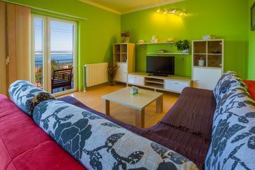 Dramalj, Living room in the apartment, WIFI.