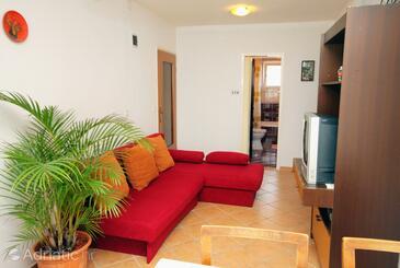 Dramalj, Living room in the apartment, dopusteni kucni ljubimci i WIFI.